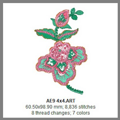 Applique Elegance 4x4 Design Details Page 4