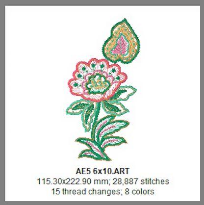 Applique Elegance 6x10 Design Details Page 2