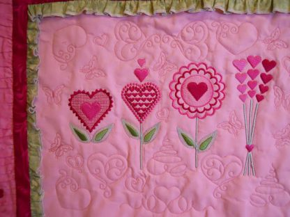 Love Blooms Collage Banner, Close Up #1