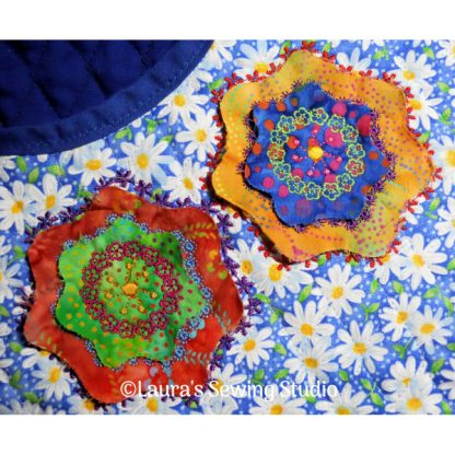 Rose of Sharon Raw-Edge Applique