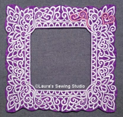 Lacy Hearts Frames in Purple, White & Pink
