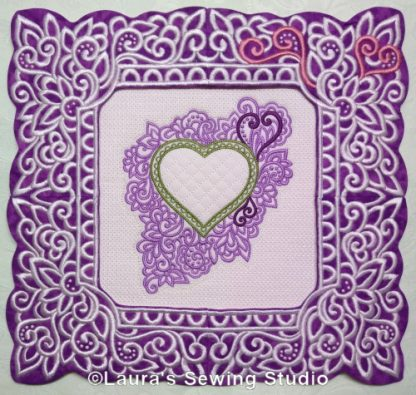Glorious Hearts framed by Lacy Hearts Frames