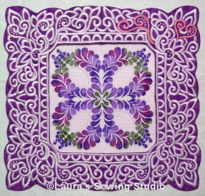 Kaleidoscope Petals framed by Lacy Hearts Frames