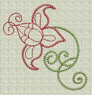 Filigree Flowers No. 4A