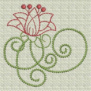 Filigree Flowers No. 5A
