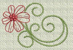 Filigree Flowers No. 8A