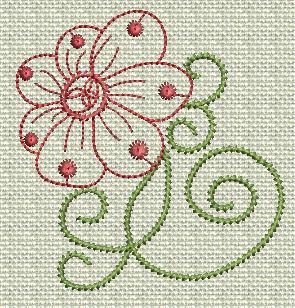 Filigree Flowers No. 10A