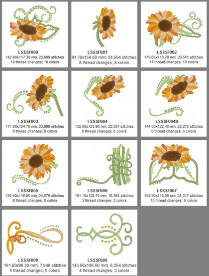 Summer's Gold Sunflowers Design Details