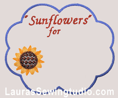 Sunflower Harvest Personalized Label