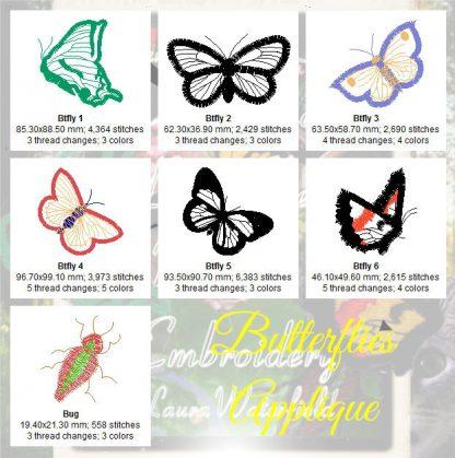 Butterflies Applique Design Details... ...including Norman