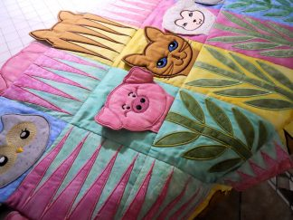 Baby Animals Applique Quilt Sampler close Up