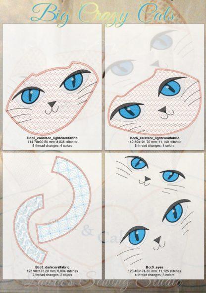 Big Beautiful Cats 5x7 Design Details, Page 1