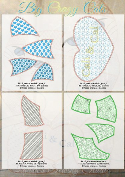 Big Beautiful Cats 5x7 Design Details, Page 3