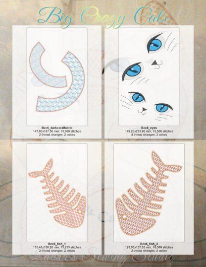 Big Beautiful Cats 6x10 Design Details, Page 1