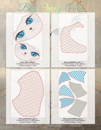 Big Beautiful Cats 6x10 Design Details, Page 2