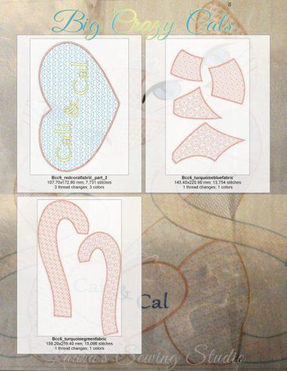 Big Beautiful Cats 6x10 Design Details, Page 3