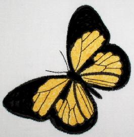 Butterflies Applique No. 5 with applique