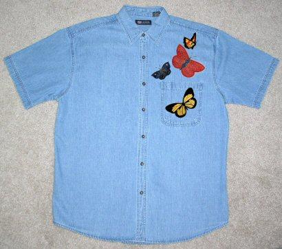 Butterflies Applique & My Chambry Shirt