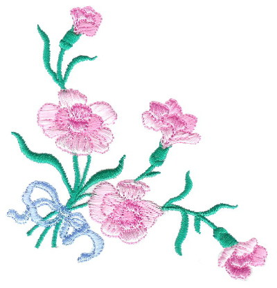 Carnations Corner with Bow