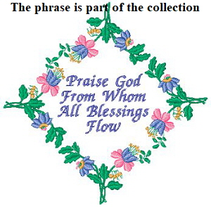 Floral Embellishments - Praise God