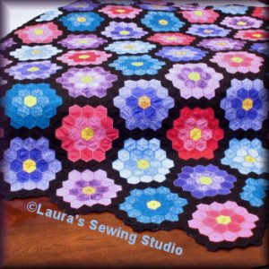 My Grandmother's Flower Garden Quilting in the Hoop