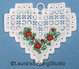 Hardanger Floral Hearts Collection