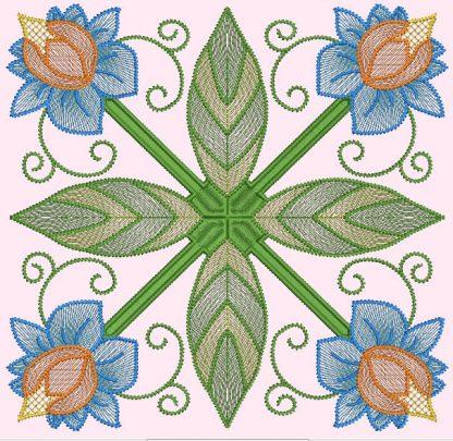Spring Garden No. 10, in 4-by pattern