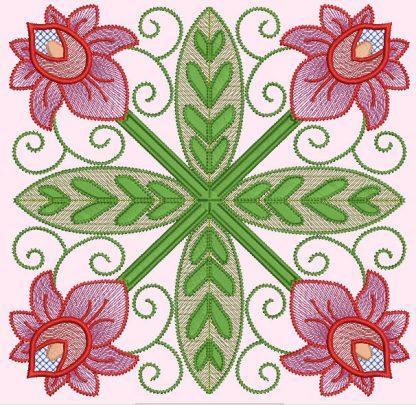 Spring Garden No. 3, in 4-by pattern