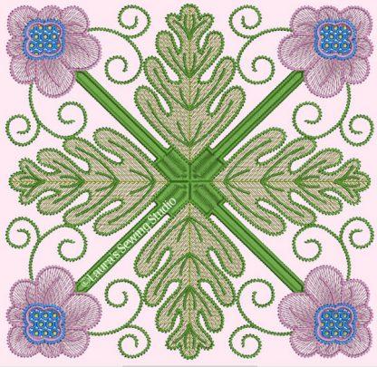 Spring Garden No. 5, in 4-by pattern
