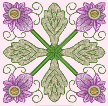 Spring Garden No. 7, in 4-by pattern