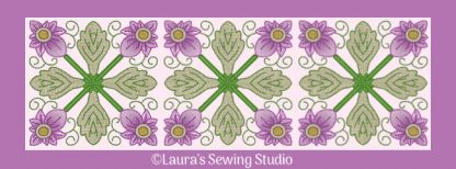 Spring Garden No. 4, as a banner in a 4-by pattern