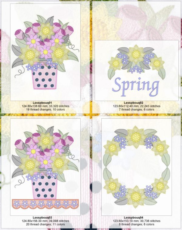 Spring Bouquets Design Detail Page 1