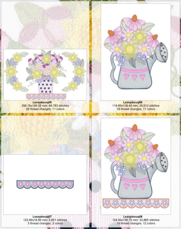 Spring Bouquets Design Detail Page 2