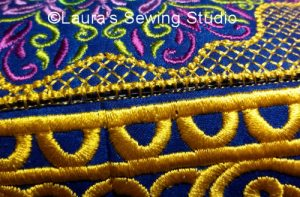 The blanket stitch blends beautifully into the project.