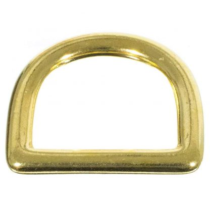 Craft County 1-Inch Brass D-Ring Purse Hardware