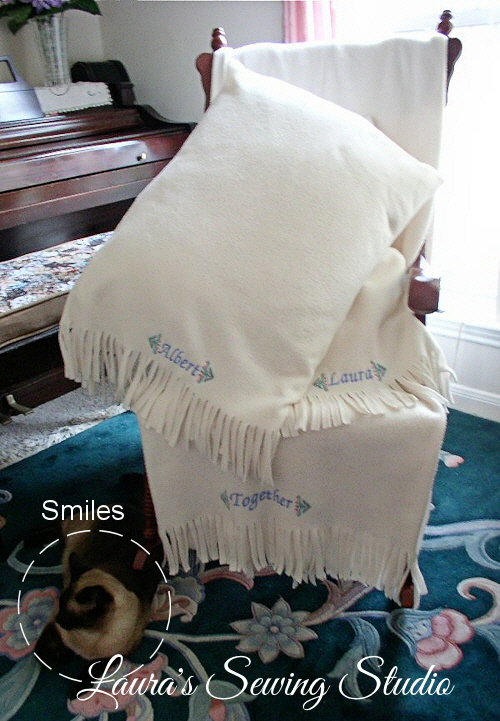 White Throw & Pillow Project