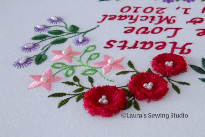 Two Hearts One Love - Fringe Flowers avec Pearls