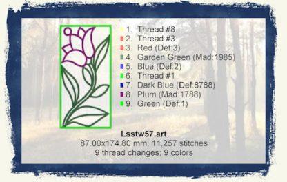 Tulips In The Window 5x7 Design Details