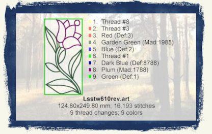 Tulips In The Window 6x10 (Rev) Design Details