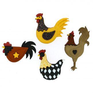 Dress It Up! Chicken Buttons