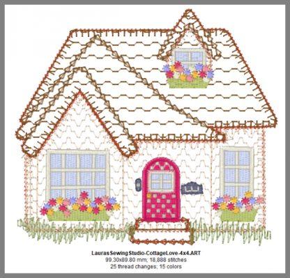 Cottage Love 4-Inch Design Details