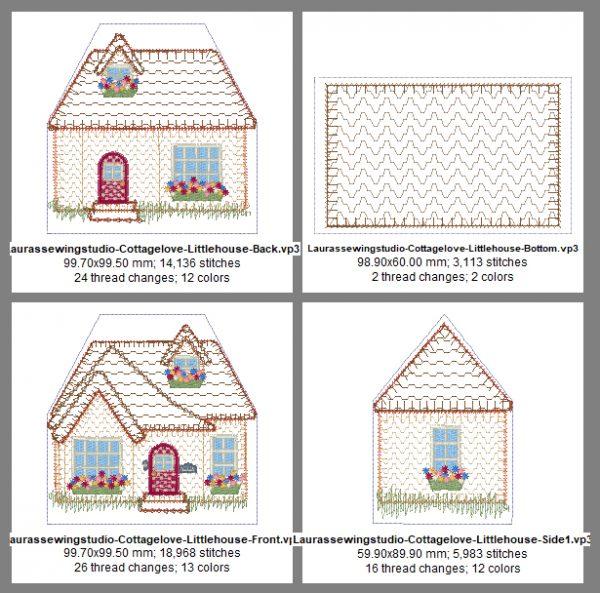 Cottage Love Pincushion Design Details, Page 1