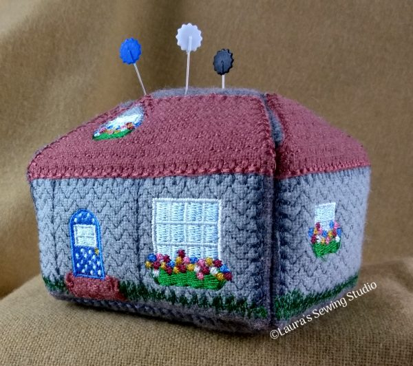 Cottage Love Pincushion Project (Back)