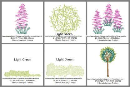 Cottage Love 8-Inch Elements Design Details, Page 2