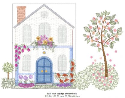 Cottage Rose 6-Inch Design Details with Elements