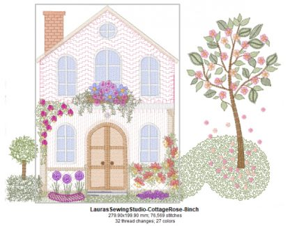 Cottage Rose 8-Inch Design Details with Elements