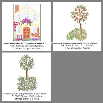 Cottage Rose 7-Inch Design Details & Elements
