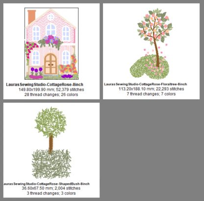 Cottage Rose 8-Inch Design Details & Elements