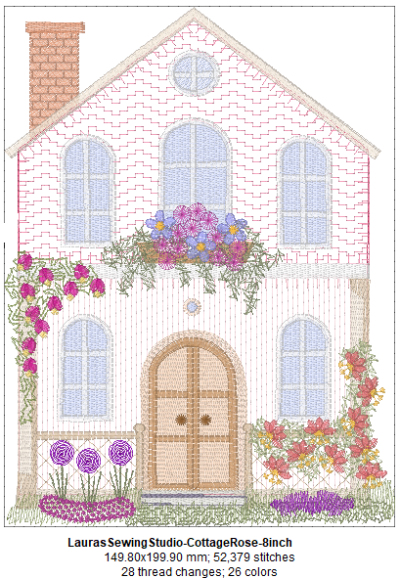 Cottage Rose 8-Inch Design Details