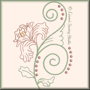 Fragile Petals No. 8 - Free Embroidery Design